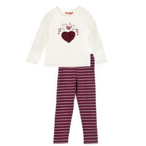 PYJAMA LITTLE MARCEL Pyjama 2 pièces Beige Enfant Fille ... 12146aa79ee