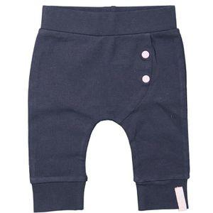 7d2f12fac5569 PANTALON DIRKJE Pantalon Bleu marine avec bouton rose Bébé ...