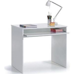 BUREAU  JOY Bureau multimédia contemporain blanc - L 90cm