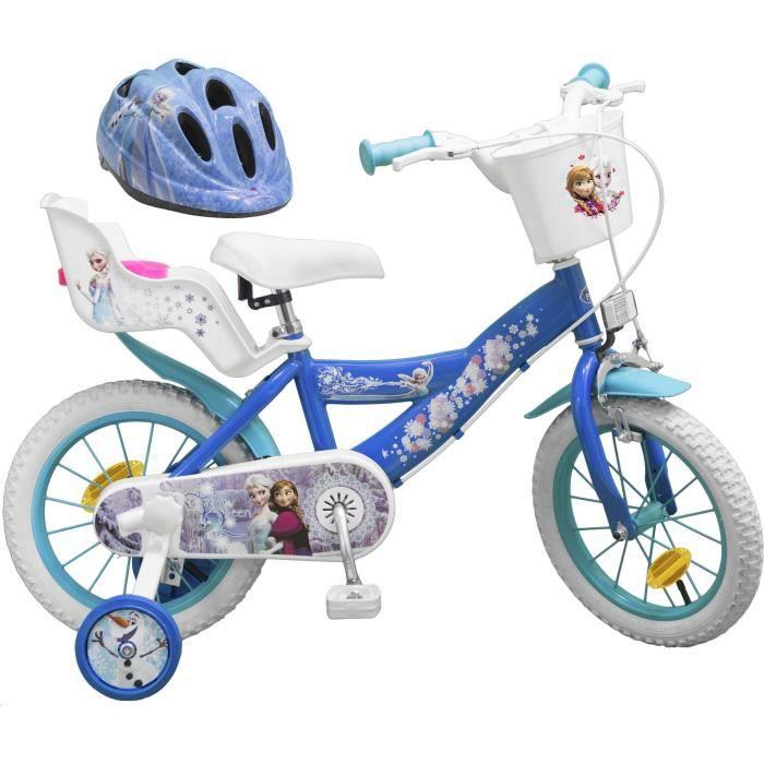 """VÉLO ENFANT LA REINE DES NEIGES Vélo 14"""" + Casque - Enfant fil"""