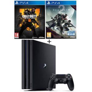CONSOLE PS4 NOUVEAUTÉ Pack PS4 Pro Noire 1 To + 2 Jeux PS4 : Call of Dut