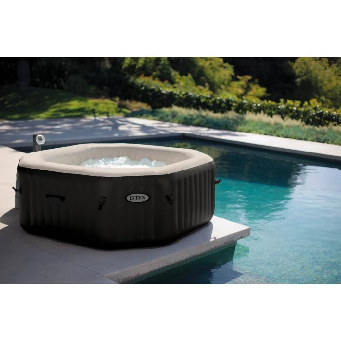 SPA COMPLET - KIT SPA INTEX Pure Spa octogonal 4 places bulles+ jets 201