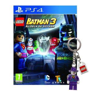 JEU PS4 Lego Batman 3 Au Delà de Gotham Jeu PS4+Porte-clé