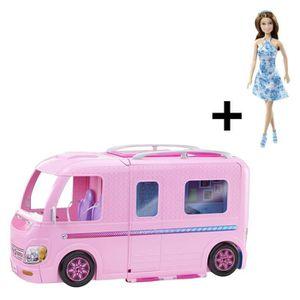 POUPÉE BARBIE - Camping Car Transformable + Poupée Barbie
