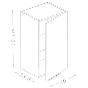 lments haut pop meuble haut de cuisine l 40 cm noir haute br - Hauteur Meuble Haut Cuisine Rapport Plan Travail