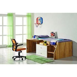 lit combine enfant achat vente lit combine enfant pas cher soldes d s le 10 janvier cdiscount. Black Bedroom Furniture Sets. Home Design Ideas