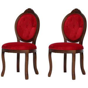 chaise romantique lot de 2 chaises de salle manger en b