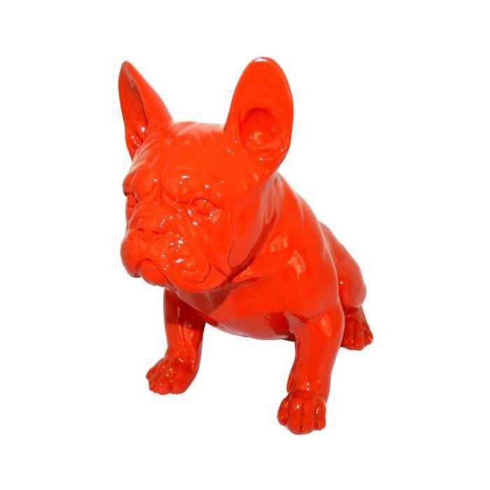 statue chien bouledogue achat vente statue chien bouledogue pas cher soldes d s le 10. Black Bedroom Furniture Sets. Home Design Ideas