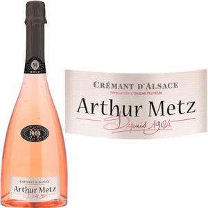 PÉTILLANT & MOUSSEUX Crémant d'Alsace Cuvée 1904 rosé Arthur Metz vi...