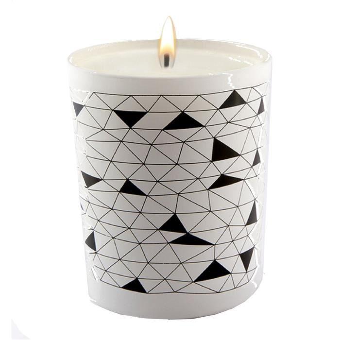 Ebougie Bougie Parfumee Fleurs D Oranger 190 G Noir Et Blanc Achat