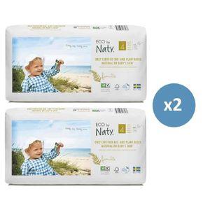 COUCHE Naty lot de 2 paquets de couches écologiques T4 -