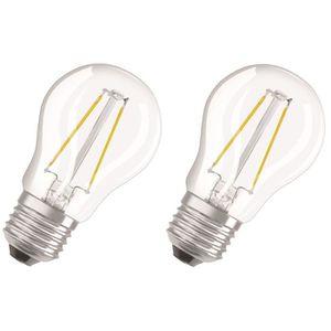 AMPOULE - LED OSRAM Lot de 2 Ampoules LED E27 sphérique claire 4
