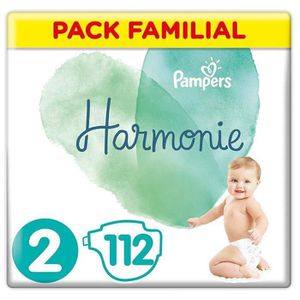 COUCHE PAMPERS Harmonie Taille 2, 4-8 kg, 112 Couches (2x