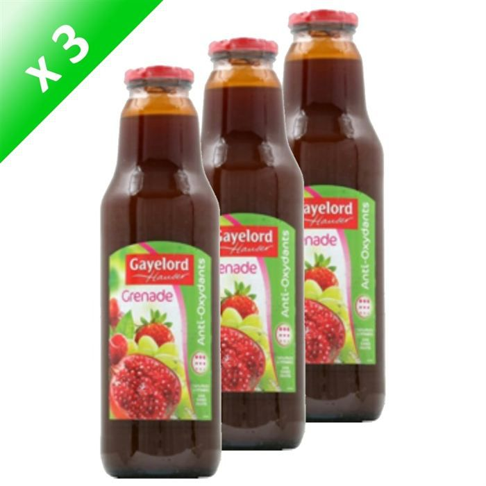 Gayelord hauser jus de grenade 75cl x3 achat vente - Acheter des grenades fruits ...