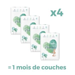 COUCHE PAMPERS Harmonie Taille 2, 4-8 kg, 224 Couches - F