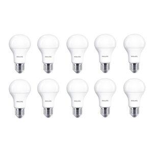 AMPOULE - LED PHILIPS EDF Lot de 10 ampoules LED E27 11 W équiva