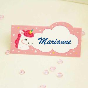 MARQUE-PLACE  5 Pcs marque place, porte nom, étiquette licorne 9