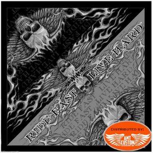 CAGOULE - TOUR DE COU Bandana Foulard Biker Motard Skull Ride Fast 097b3ff9212