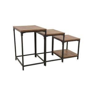 TABLE D'APPOINT Industriel - Set de 3 tables d'appoints Wolof - Na