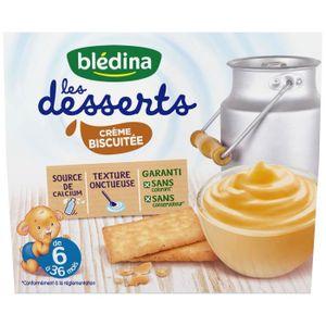 DESSERT LACTÉ BLEDINA Les Desserts Crème biscuitée - 4x100 g - D