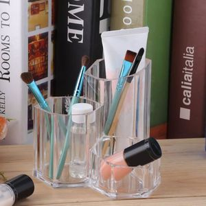 TROUSSE DE MAQUILLAGE Acrylique Suport de maquillage Transparent-TROUSSE
