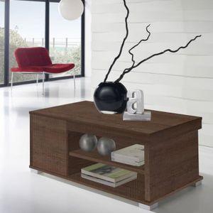 TABLE BASSE Table basse Chêne foncé relevable 2 tiroirs - ESSA