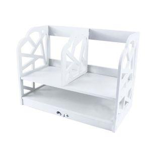 BIBLIOTHÈQUE  petit bibliothèque en blanc Étude salle de bains /