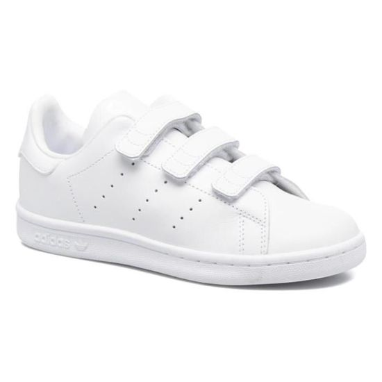 chaussures de sport cd449 aad68 Adidas stan smith à scratch taille 39 1/3 blanc Blanc BLANC ...