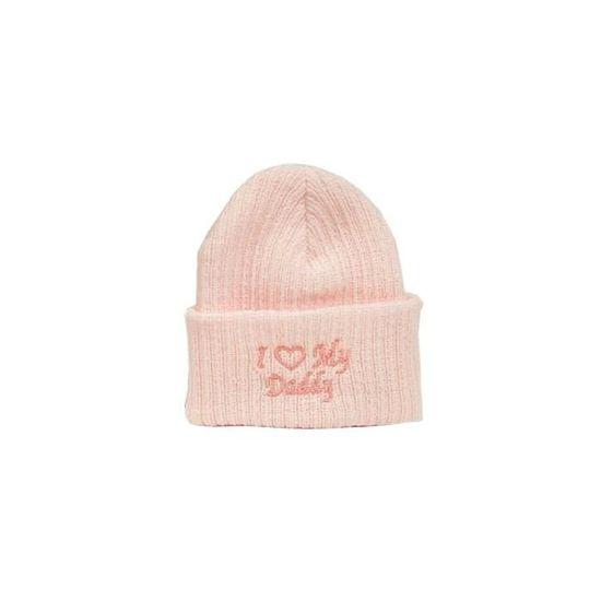 Bonnet tricoté pour Bébé Fille - 0 à 3 mois Blanc rose - Achat ... 17ebca434d5