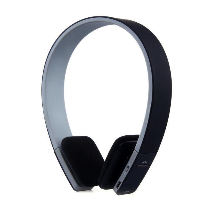 Bq-618 Bluetooth Casque / Microphone Intégré Haute Qualité Sonore Fit Design Élégant (noir)
