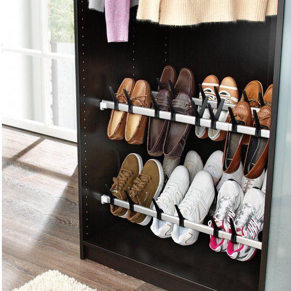 Barre à chaussures chaussures à 10 paires Gris Achat Vente meuble à 3c7f88