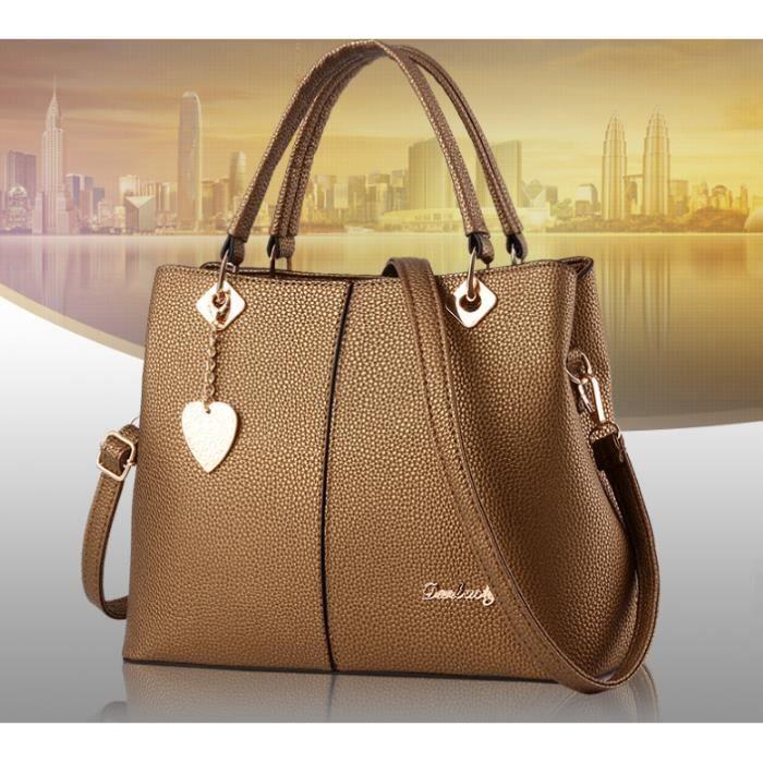 c7df493d16 Nouveaux modèles tendances de la mode d'hiver sac Messenger sac à  bandoulière de sac à main de grandes femmes célibataires-bleu