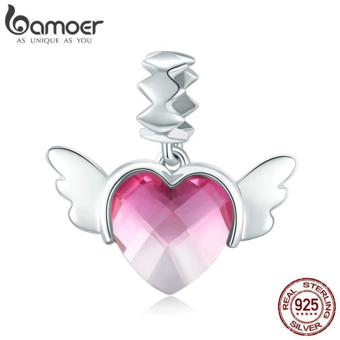 Charm's BAMOER Charms Amour   Argent 925  Femme Charm Pand