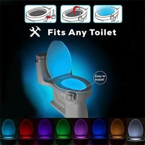 8 Couleur Lampe De Toilette Lumineux Led Multicolore Lumière De