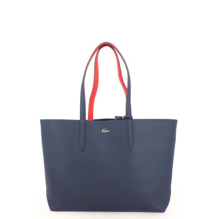 244596e6ee Sac Cabas Lacoste Réversible Bleu Rouge - Achat / Vente Sac Cabas ...
