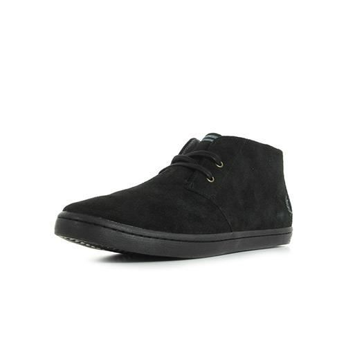 Fred Perry Byron Mid Leather Noir 4Bm5aLqL