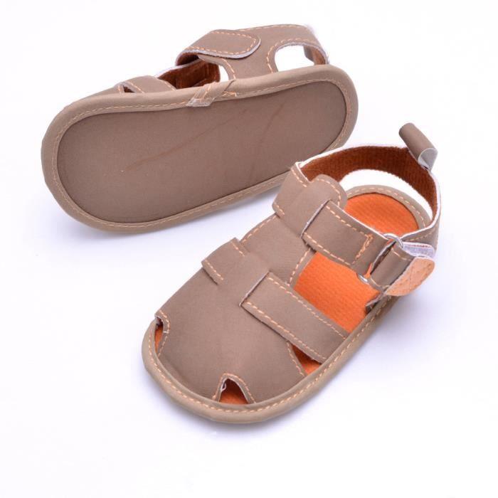 Tout-petits été Casual filles garçons Soft Bébé toe cap couvrant sandales plage chaussures Bleu KAKRfADzOz