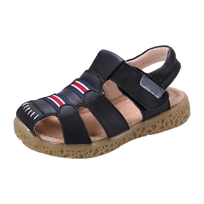 Cuir Bout Garçon Chaussures Pour Gaxmi D'été Sandales Bébé Fermé bfyI76mgvY