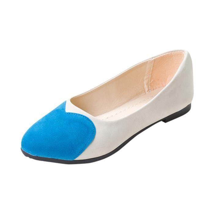 De Casual Coeur On Chaussures Mocassins Slip Sandales Plates Mode Femmes Bleu Modèle yXcg0qW