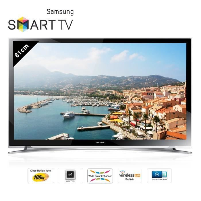 samsung ue32h4500 smart tv led hd 81 cm achat vente. Black Bedroom Furniture Sets. Home Design Ideas