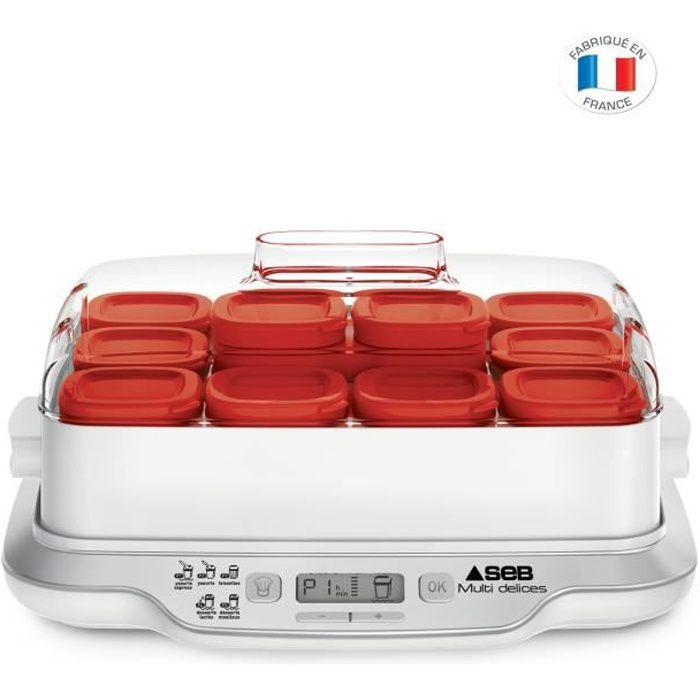 Seb Yg661500 Yaourtiere Multidelices Express 12 Pots Rouges Achat