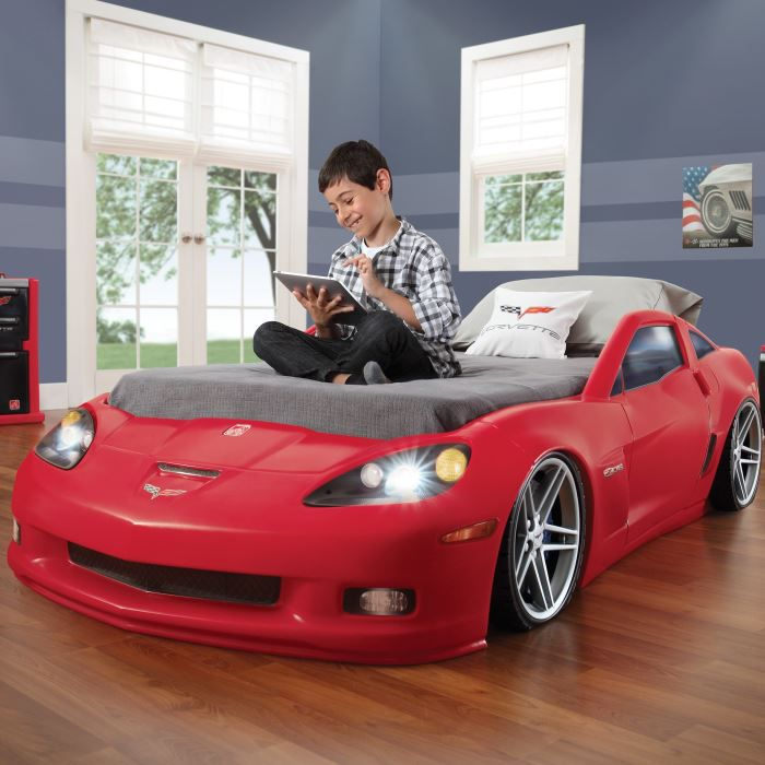lit enfant voiture corvette chevrolet achat vente. Black Bedroom Furniture Sets. Home Design Ideas