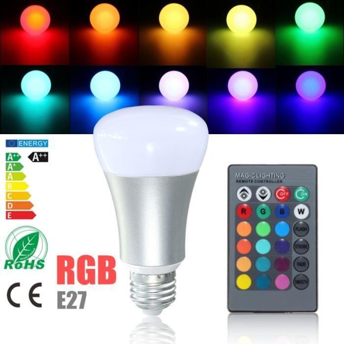 E27 265v 20w Rgb Ampoule Couleur Lampe Led 85 Changement Projecteur xQrBdeWCo