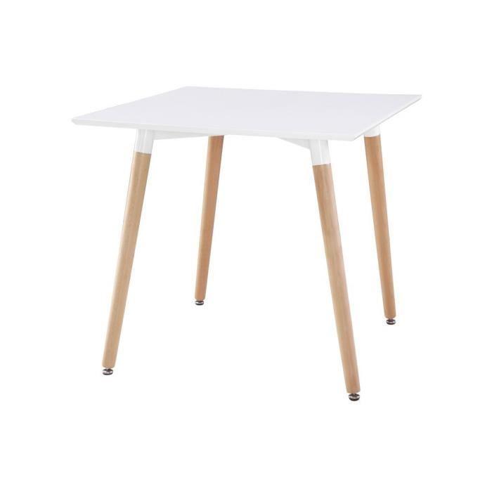 Table carrée scandinave blanche - Achat / Vente table à manger seule ...