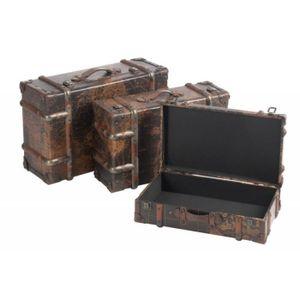 malle en bois maison du monde top malle bois et mtal marron l with malle en bois maison du. Black Bedroom Furniture Sets. Home Design Ideas