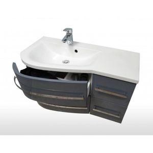 Ensemble meubles salle bain gris achat vente ensemble meubles salle bain - Ensemble meuble salle de bain pas cher ...
