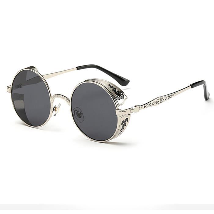 Femmes hommes été Vintage rétro rond dégradé couleur lunettes de mode unisexe Aviator lentille miroir dg