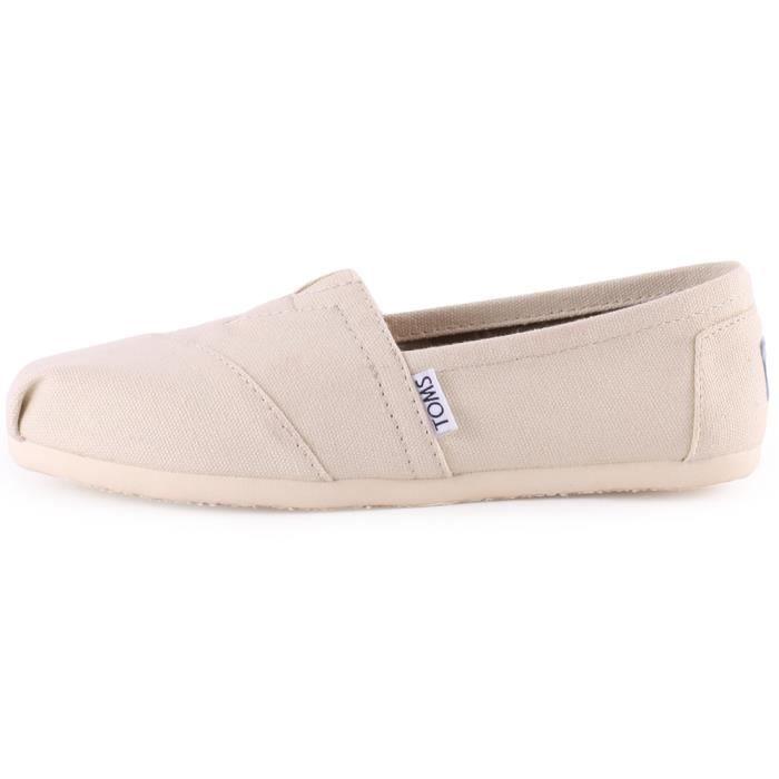 Toms Classic Femmes Chaussures sans lacets Beige - 4 UK lJODSy