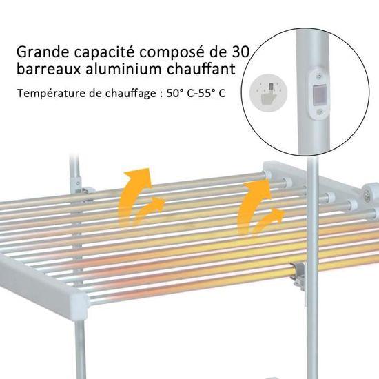 1ca5f024a40bfd Séchoir à linge étendoir à linge électrique chauffant pliable 3 niveaux 300 W  50-55  aluminium neuf 46 - Achat   Vente fil à linge - étendoir - Cdiscount