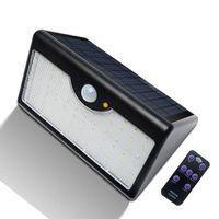 Solaire Detecteur 03 Leds SolaireApplique Extérieur 1300lm Avec De 60 Murale Lampe MouvementJardin WxBdCoer